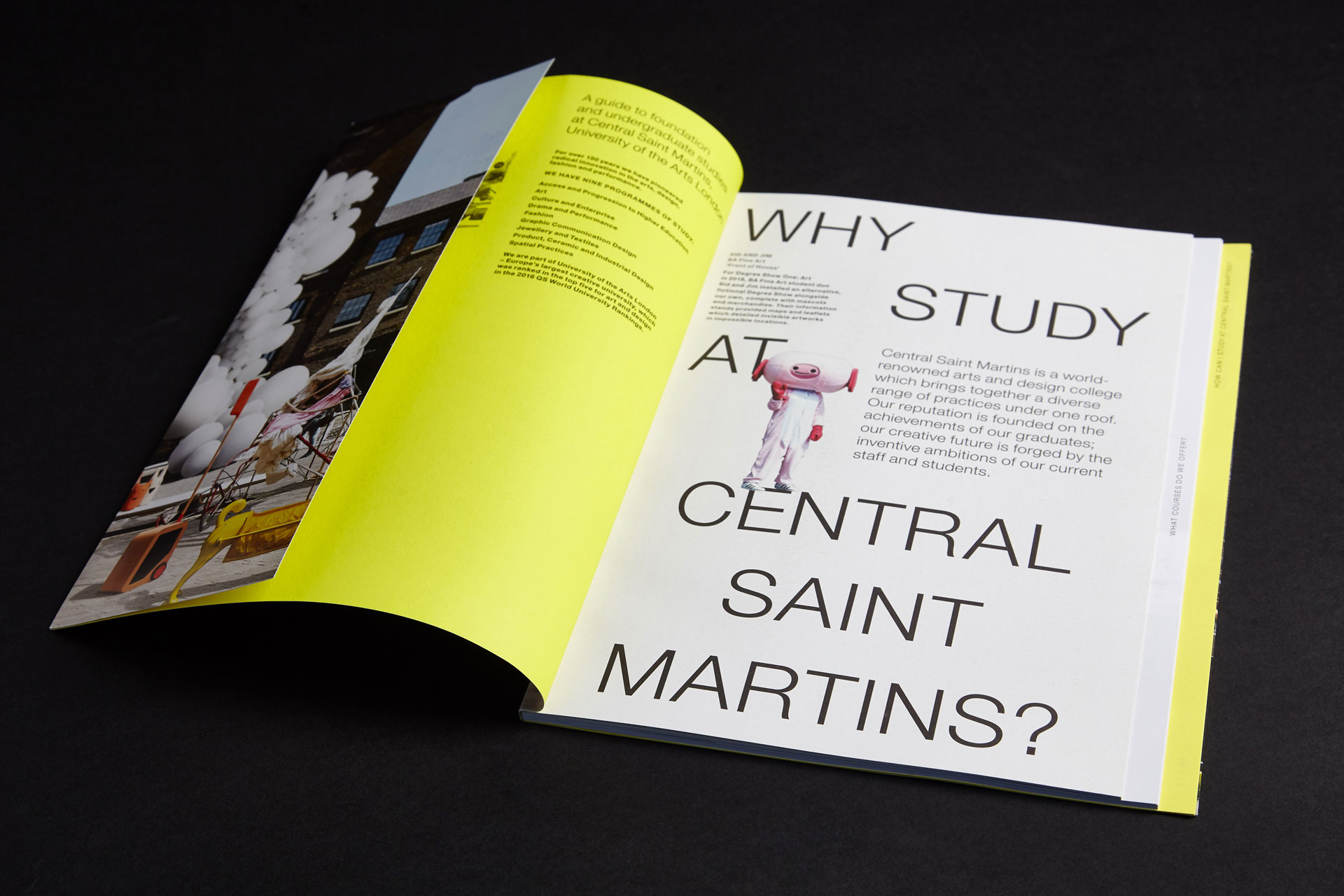 A guide to Central Saint Martins. 1st edition 19