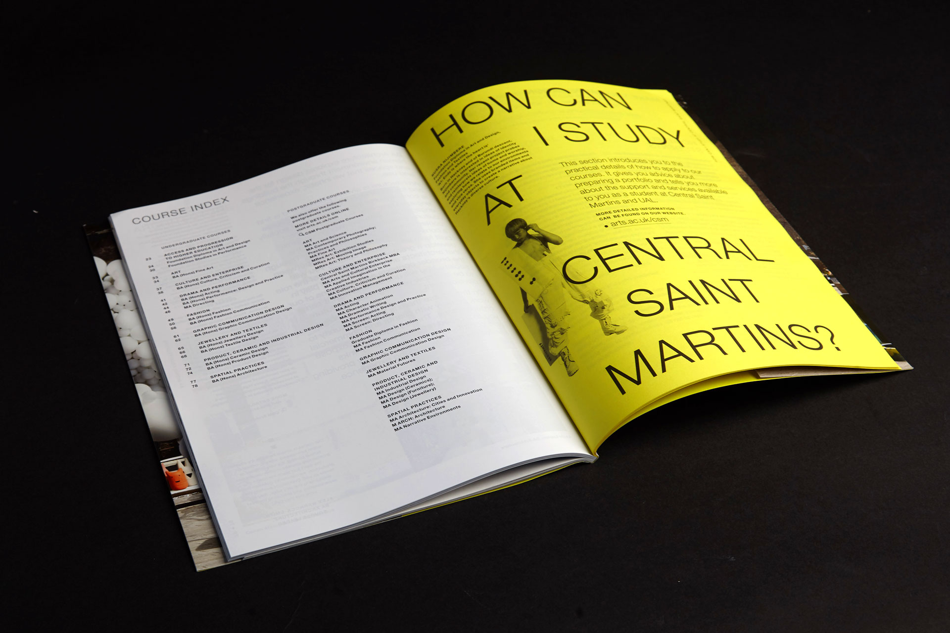 A guide to Central Saint Martins. 1st edition 5