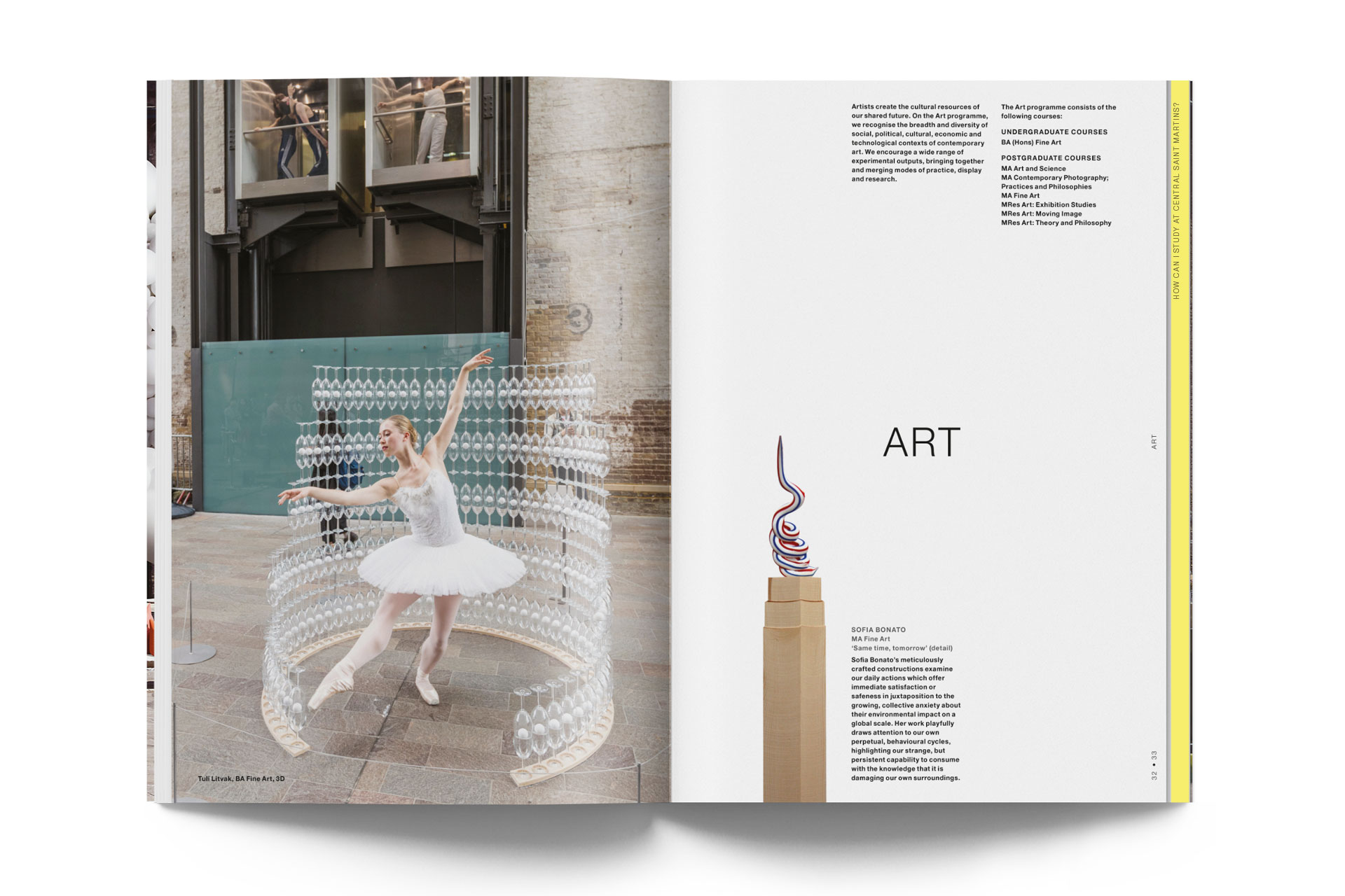 A guide to Central Saint Martins. 1st edition 27