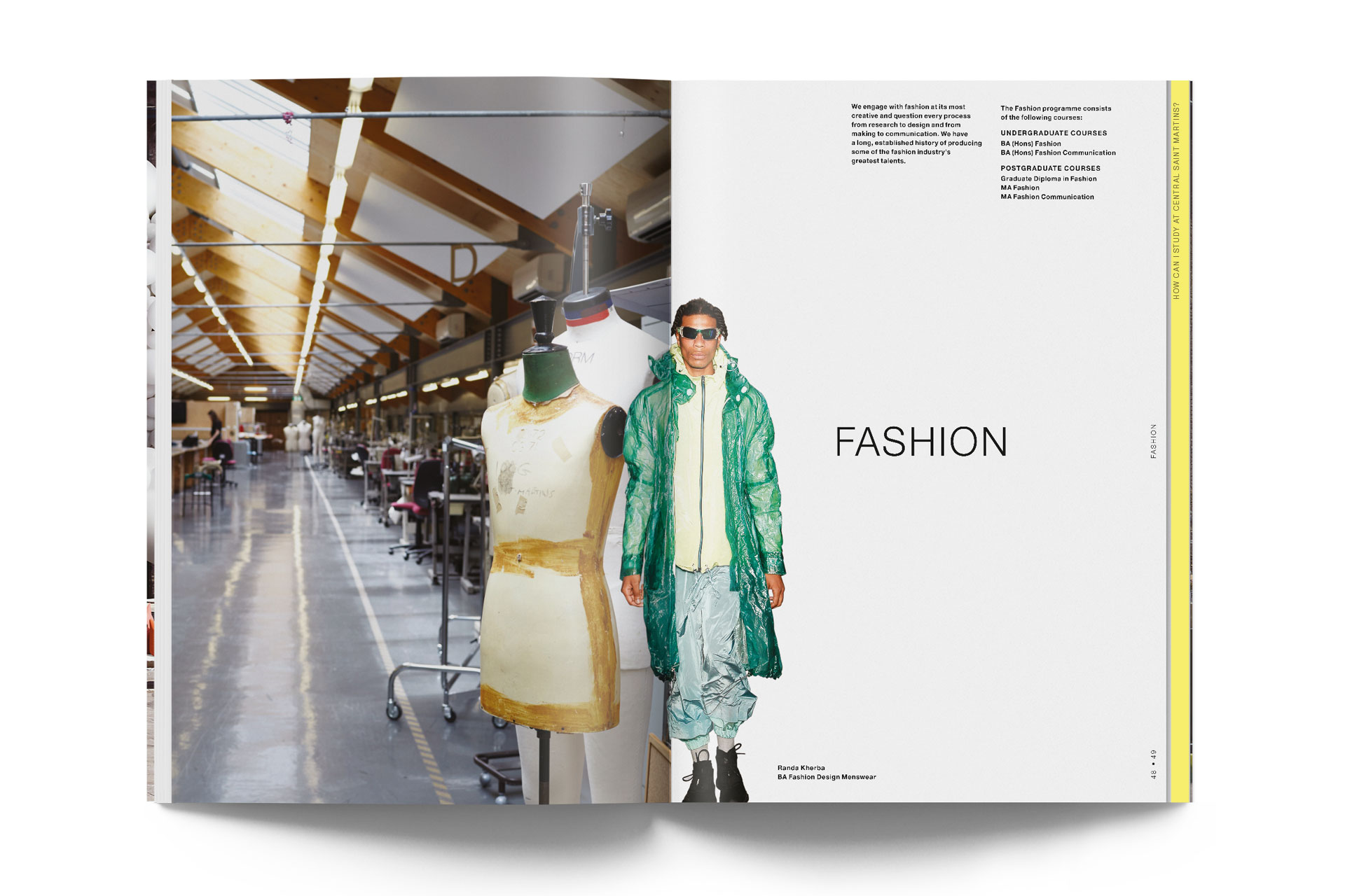 A guide to Central Saint Martins. 1st edition 24