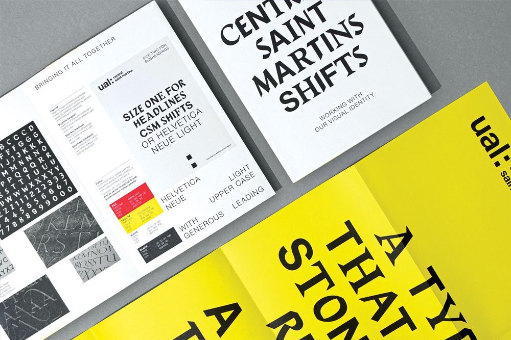 Central Saint Martins identity launches